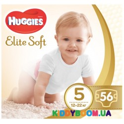 Подгузники Huggies Elite Soft 5 (12-22 кг), 56 шт.
