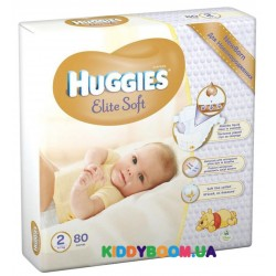 Подгузники Huggies Elite Soft Newborn 2 (4-7 кг) 80 шт.