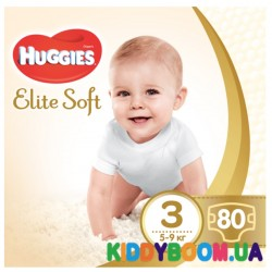 Подгузники Huggies Elite Soft 3 (5-9 кг), 80 шт.