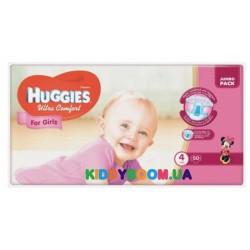 Подгузники для девочки Huggies Ultra Comfort 4 (8-14 кг) 50 шт.