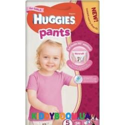 Трусики-подгузники для девочек Huggies Pants 5 (12-17 кг ) 34 шт.