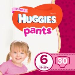 Трусики-подгузники Huggies Pants 6 Jumbo для девочек 30 шт