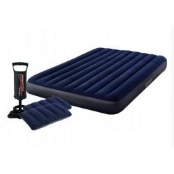 Надувной матрас с подушками и насосом Intex 152 х 203 х 25 см Синий 64765