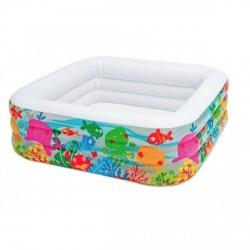 Детский надувной бассейн Intex 57471 Аквариум 159х159х50 см