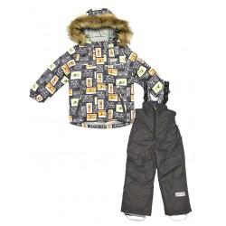 Зимний термокомплект куртка и полукомбинезон для мальчика Joiks р.104-128