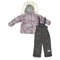 Зимний термокомплект куртка и полукомбинезон для девочки Joiks р.104-128