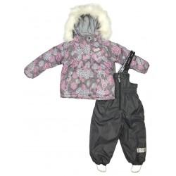 Зимний термокомплект куртка и полукомбинезон для девочки Joiks р.74-98