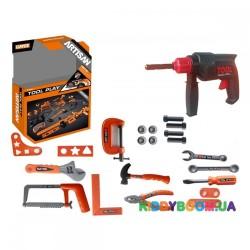 Игрушечная дрель с набором инструментов Tool Set KY1068-111F