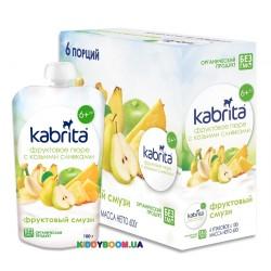 Фруктовое пюре со сливками козьего молока Kabrita Фруктовый смузи с 6 мес. (100 г) KP30000196
