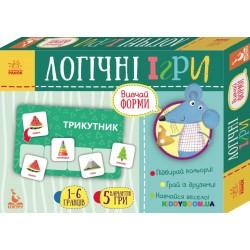 Набор Логические игры 2+ Изучай формы 24 карточки (укр) Кенгуру КН918002У
