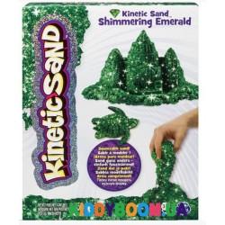 Кинетический песок Wacky Tivities Kinetic Sand Metallic зеленый 71408Em