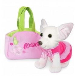 Мягкая игрушка Собачка чихуахуа белая с сумочкой, в платье Тигрес СО-0103