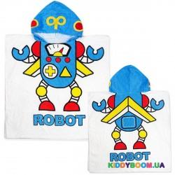 Полотенце с капюшоном Робот пл19