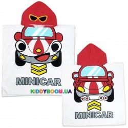 Полотенце-пончо с капюшоном Мини Кар пл20