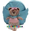Рюкзак Детский Мишутка с пуговкой 10122, голубой
