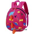 Детский мини-рюкзак Динозавр 11199, розовый