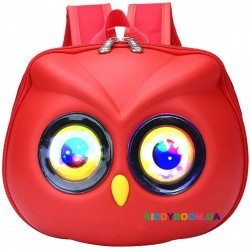 Детский рюкзак каркасный Сова 11205, красный
