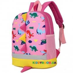 Детский рюкзак Динозаврики 11248, розовый