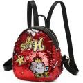 Детский рюкзак с пайетками 11261, красный
