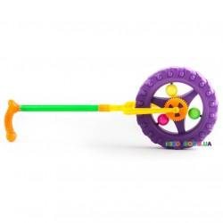 Каталка-колесо на палке Трещалка 3620