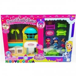 Домик с куклами и мебелью Barmila 60218AB