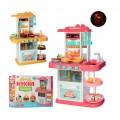 Детская игровая кухня с водой 889-153-154 свет, звук, 38 предмета, 2 цвета в ассортименте