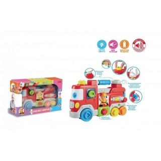 Развивающая игрушка-конструктор Маленький пожарный (звук, свет.) UKA-A0007
