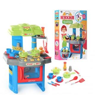 Детская кухня 008-26 A звук,свет, посуда Kitchen Little Chef