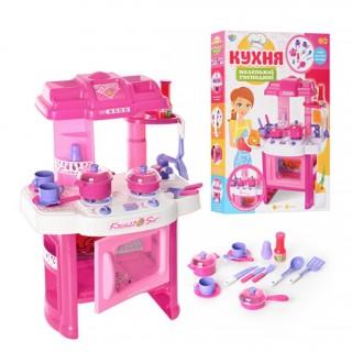 Детская кухня 008-26 звук,свет, посуда Kitchen Little Chef