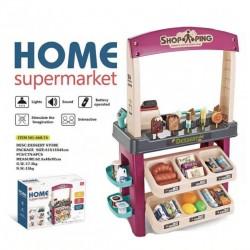 Игровой набор Магазин Home supermarket 668-74 (свет, звук, 55 предметов)