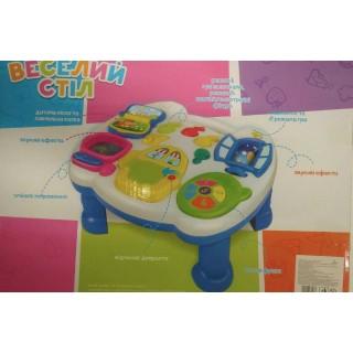 Развивающий музыкальный игровой стол Веселый столик (муз., свет) UKA-A0021