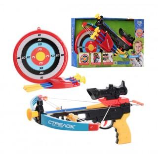 Детский арбалет M 0010 (стрелы на присосках, лазерный прицел, мишень)