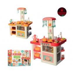 Детская кухня с водой 889-63-64 (свет, звук) 55 предметов, два цвета в ассортименте