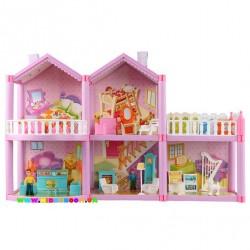 Кукольный дом с куклами и мебелью 958 Lovely House