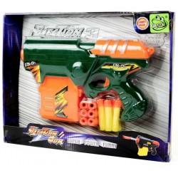 Игровой набор Пистолет + 12 мягких пуль Deex DSS11008 в ассортименте