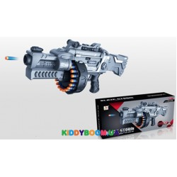 Пулемет на батарейках с мягкими патронами Zecong toys ZC7075