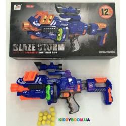 Бластер Blaze Storm на батарейках с мягкими пульками и прицелом Zecong toys ZC7088