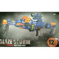 Пулемет бластер с мягкими шариками пулями и прицелом  Blaze Storm ZC7090