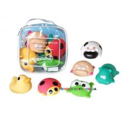 Игрушка для ванной Животные, 6 шт CQS608-2