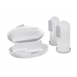 Зубная щетка-напальчник в футляре (два размера) Кроха Доктор Комаровский 10215
