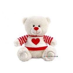 Медвежонок Сэмми в свитере с сердечком музыкальный Lava LA8733D