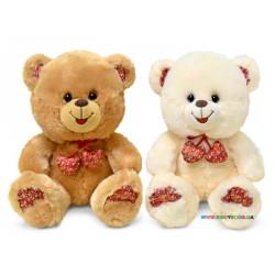 Медведь с декоративными сердечками музыкальный Lava LF867A