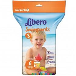 Подгузники-трусики для плавания Libero Swimpants Small (7-12 кг) 6 шт.