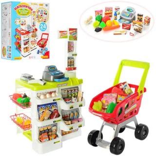 Игровой набор cупермаркет Магазинчик с тележкой Limo Toy 668-01-03