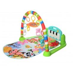 Развивающий музыкальный коврик с пианино и игрушками 698-55A