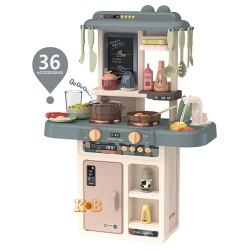 Детская игровая кухня с водой 889-189 свет, звук, набор посуды, 36 предметов