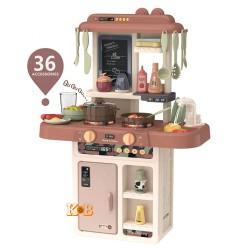Детская игровая кухня с водой 889-190 Limo toy свет, звук, набор посуды, 36 предметов