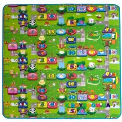 Коврик двусторонний Цветные цифры и Прогулка с друзьями 120х180 см Limpopo LP006-120