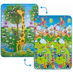 Коврик двусторонний Большая жирафа и Веселье животных 120х180 см Limpopo LP008-120