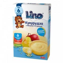 Каша молочная Lino Кукурузная с яблоком и грушей 190 г